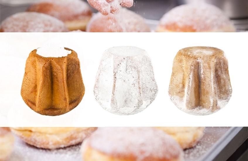 zucchero a velo sul pandoro